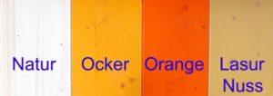 Farbe Festbankgarnituren