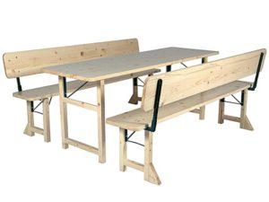 Tischgarnitur mit Rückenlehne